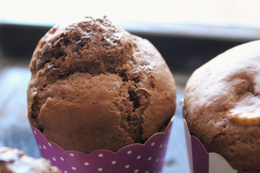 Queques de Chocolate & Banana | Chocolate & Banana Muffins